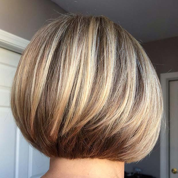 Warm Blonde Bob Haircut