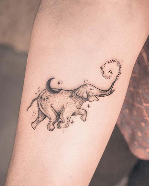 Adorable Elephant Tattoo