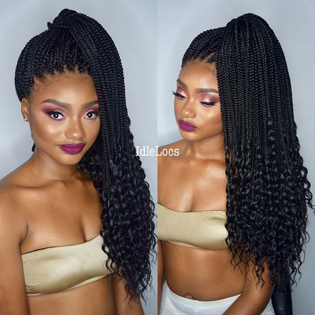23 Best Long Box Braids Hairstyles and Ideas