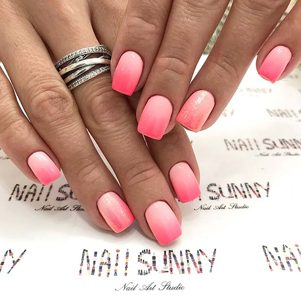 23 Cute And Simple Ideas For Ombre Nails Stayglam