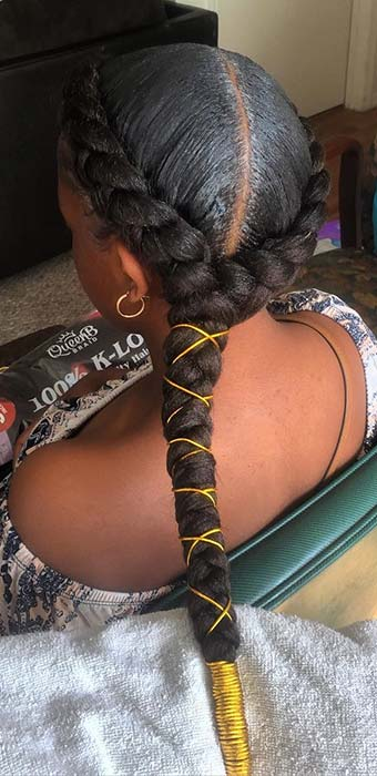Butterfly Braids with Glam Cords