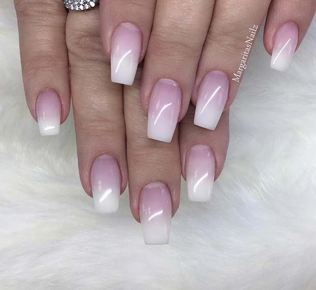 Chic French Ombre Nails