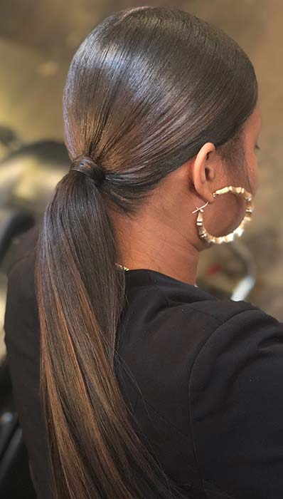 Sleek Low Ponytail for Black Women