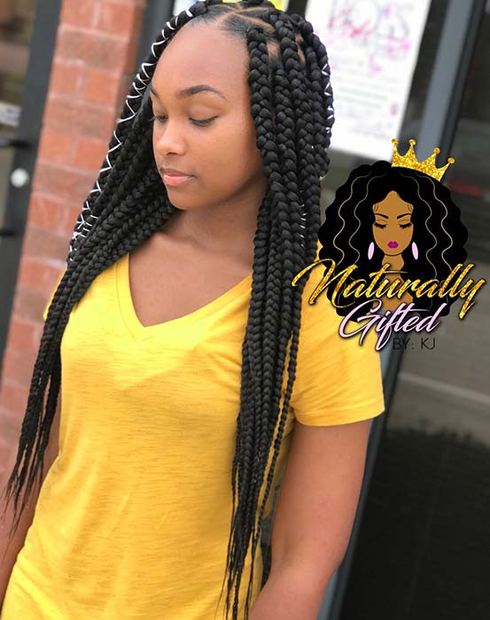 23 Best Long Box Braids Hairstyles And Ideas Page 2 Of 2