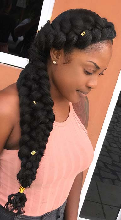 Chunky Butterfly Braid Hairstyle