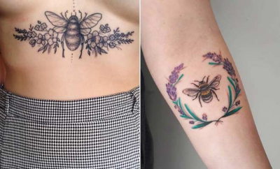 Cute Bumble Bee Tattoo Ideas for Girls