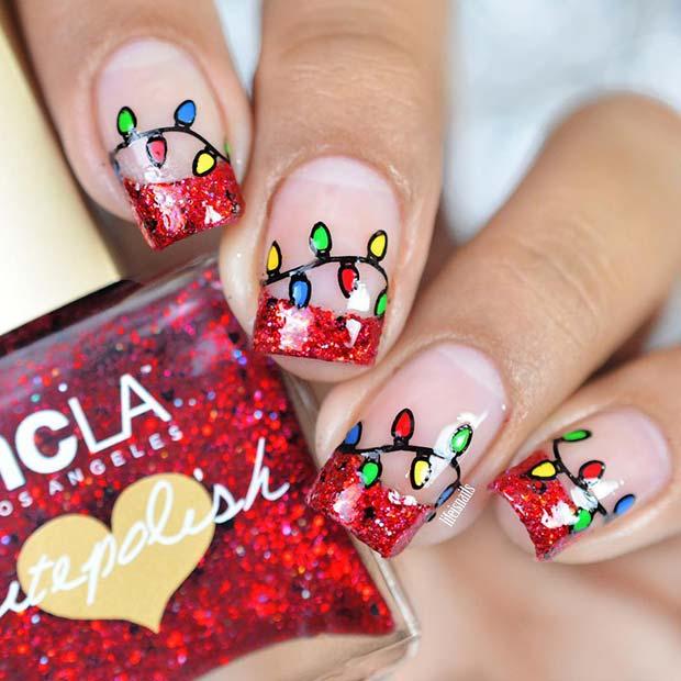 Cute Christmas Nail Art: 51 Christmas Nail Art Designs & Ideas For 2018
