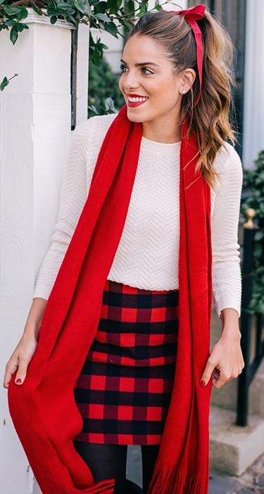 Cute Plaid Skirt for Christmas