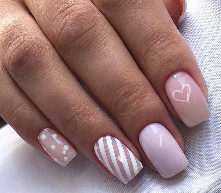 Elegant Heart Nail Design