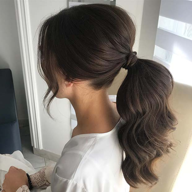 Elegant Ponytail Hairstyle for a Bride or Bridesmaids