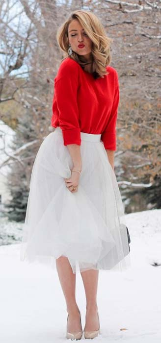 Elegant Tulle Skirt and Sweater