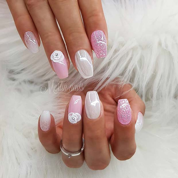 43 Pretty Nail Art Designs For Short Acrylic Nails Page 2