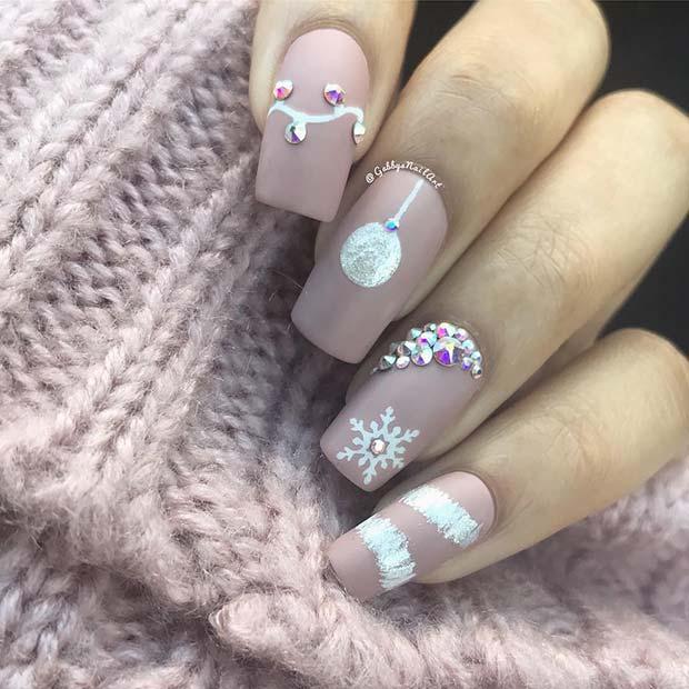 Glam Christmas Nails