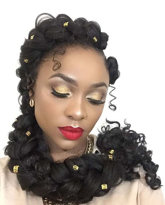 Elegant, Curly Butterfly Braid