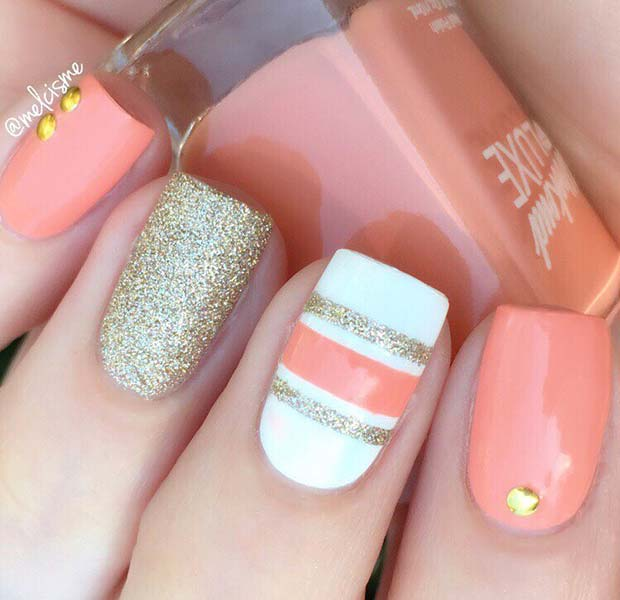 Easy Striped Nails for Spring and Summer
