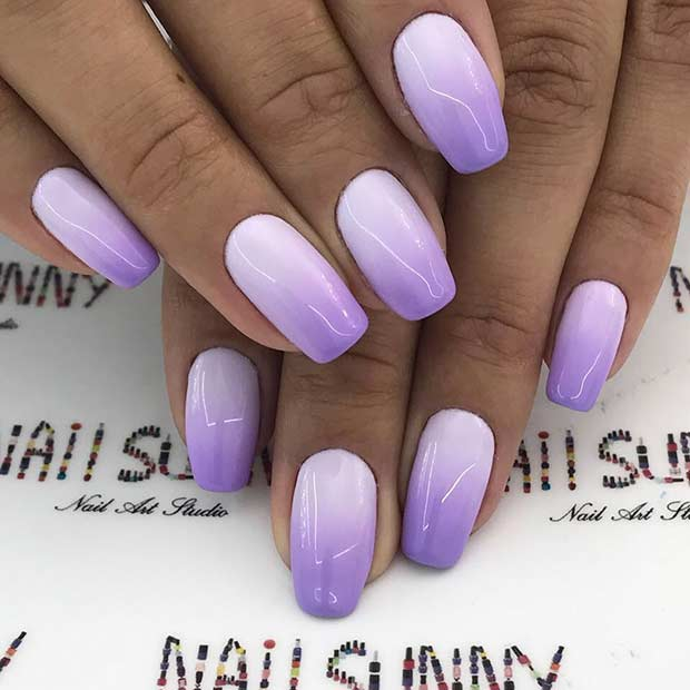 Light Purple Ombre Nails