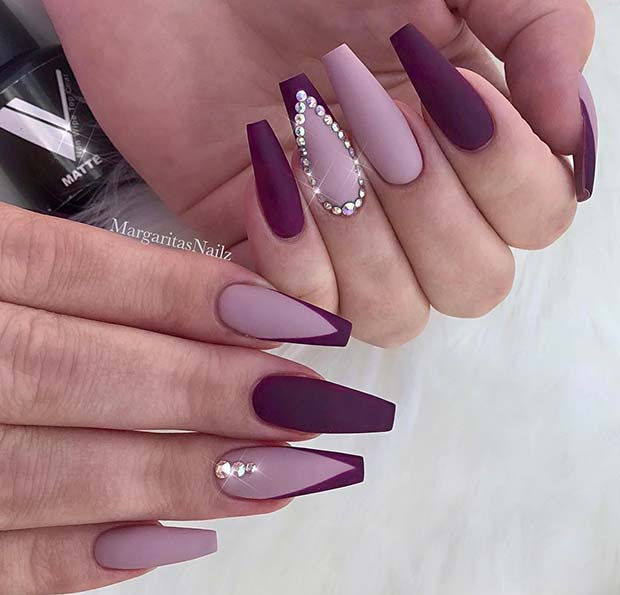 41 Elegant Nail Designs with Rhinestones | Page 4 of 4 ...