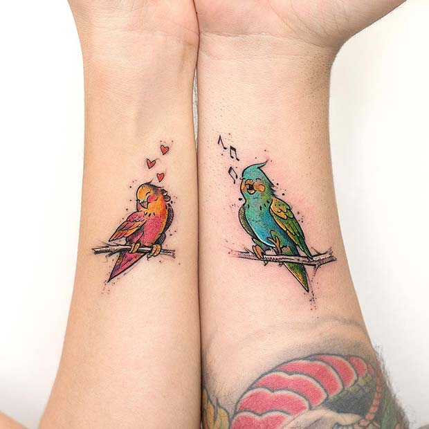 Cute Couple Tattoo Idea