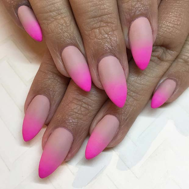 Nude to Pink, Matte Ombre Nails