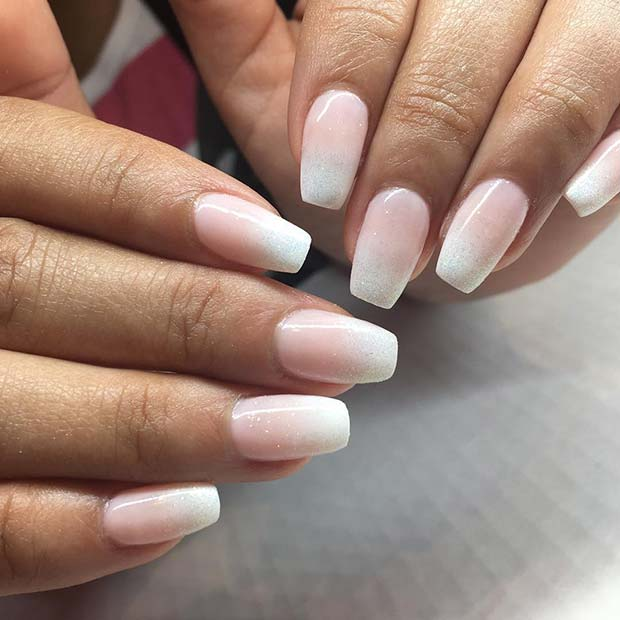 Elegant Ombre French Manicure