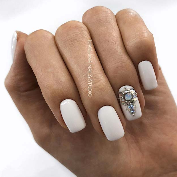 43 Pretty Nail Art Designs for Short Acrylic Nails | Page 2 of 4 ...