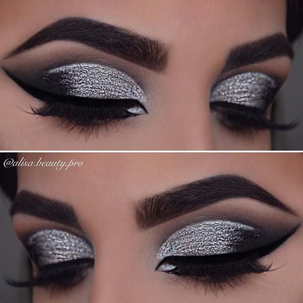 Silver Smokey Eyes