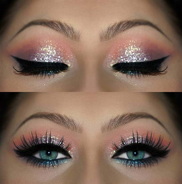 Colorful NYE Makeup Look