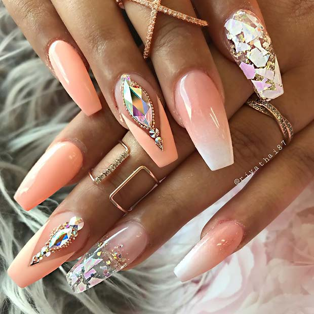 Statement Ombre Coffin Nails
