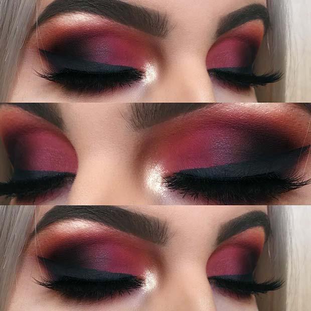 Matte Red Smokey Eye