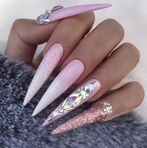 Light Pink Nails Almond