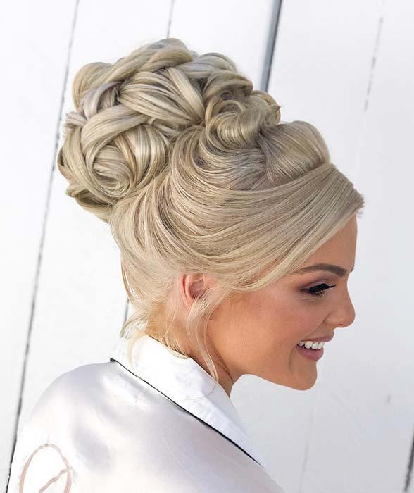 Elegant, High Bun Updofor Brides