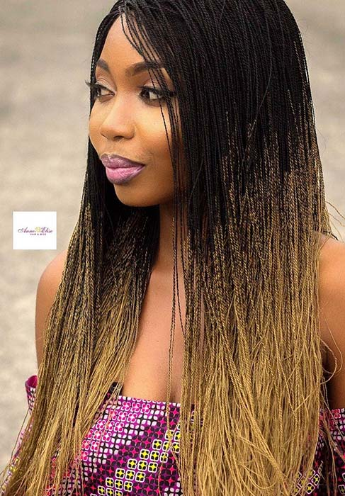 61 Beautiful Micro Braids Hairstyles Page 5 Of 6 Stayglam