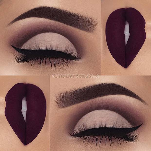 Matte Eyes and Lips for Christmas