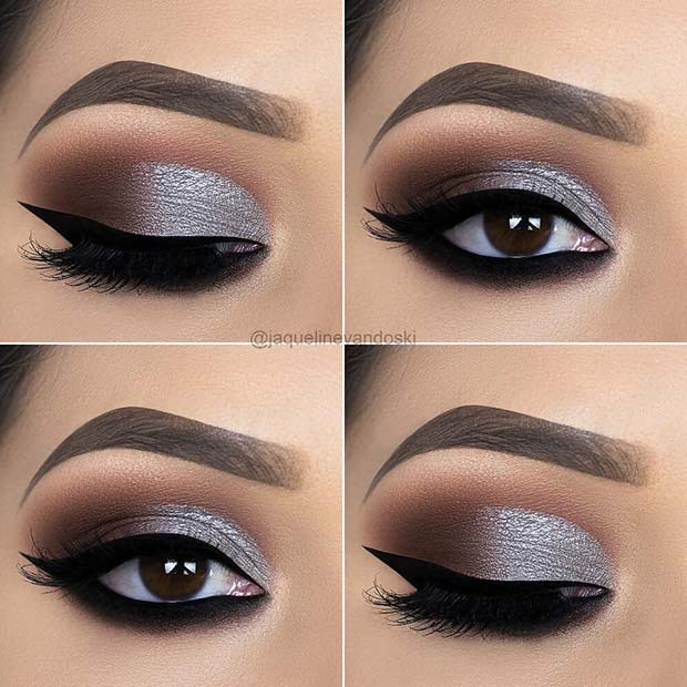 Stylish Silver Eye Makeup