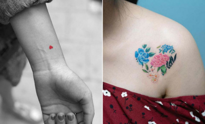 Super Cute Heart Tattoos