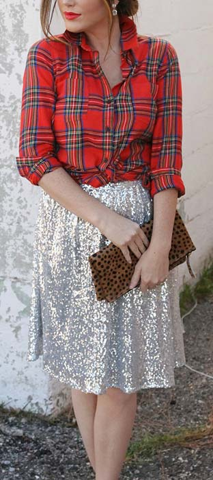 Tartan Shirt and Sparkly Skirt