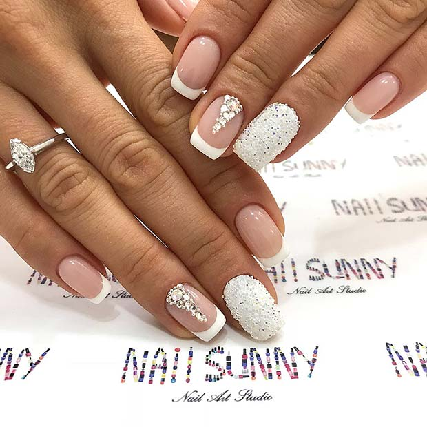 Short Acrylic Wedding Nails