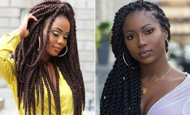 23 Eye-Catching Twist Braids Hairstyles For Black Hair