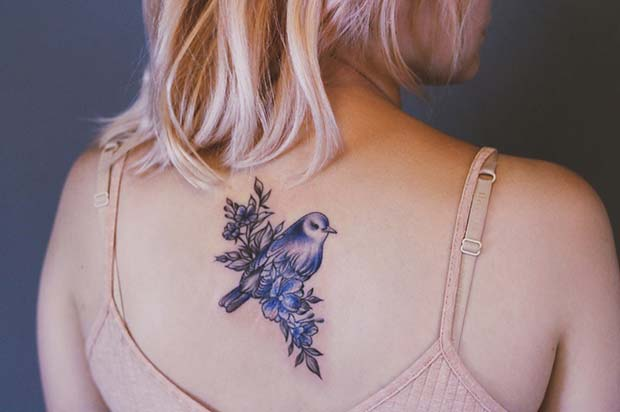 Vibrant Bird Tattoo Tattoo