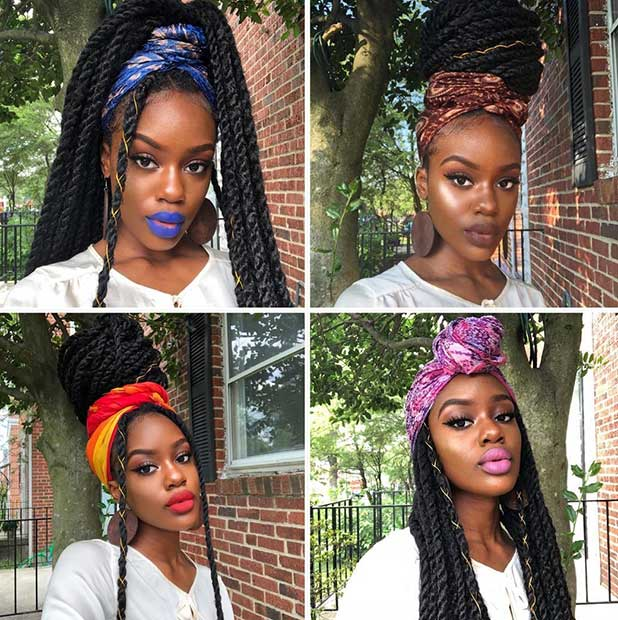 4 Easy Ways to Style Your Twists