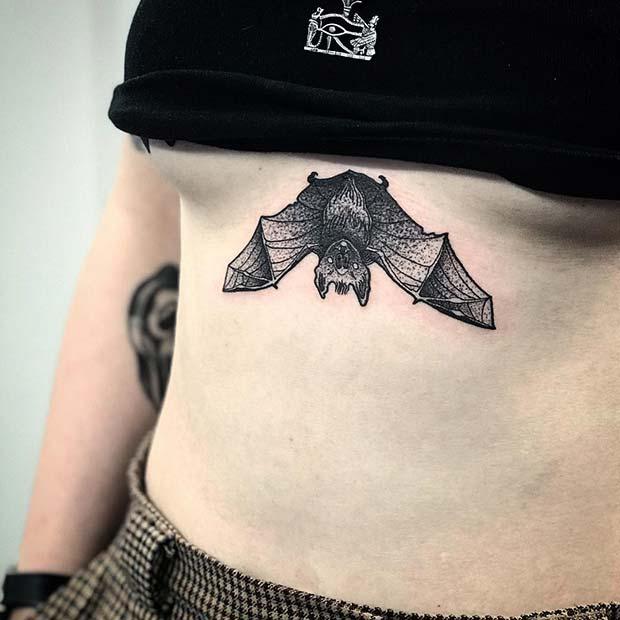 Bat Sternum Tattoo