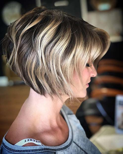 Black and Blonde Short Bob