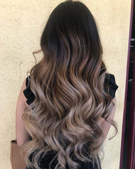 Black to Blonde Balayage Hair