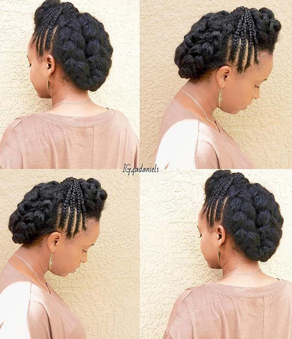 23 Beautiful Braided Updos For Black Hair Crazyforus