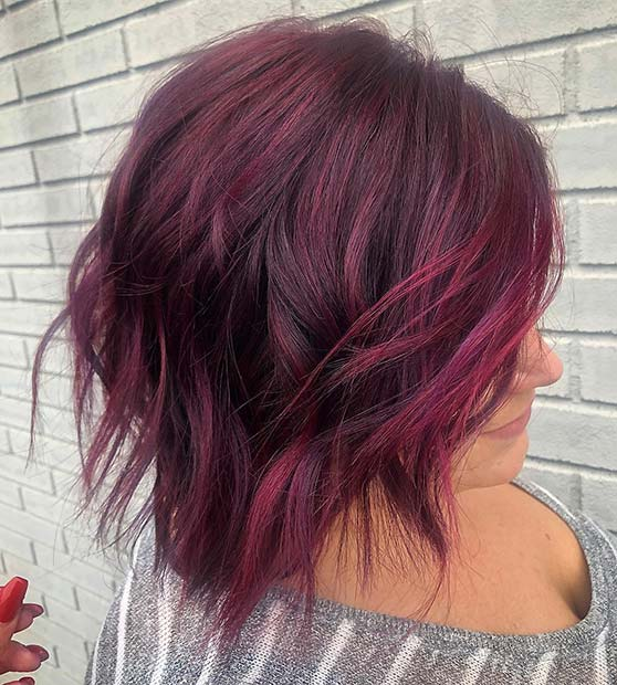 Fabulous 43 Burgundy Hair Color Ideas And Styles For 2019 Stayglam Schematic Wiring Diagrams Amerangerunnerswayorg