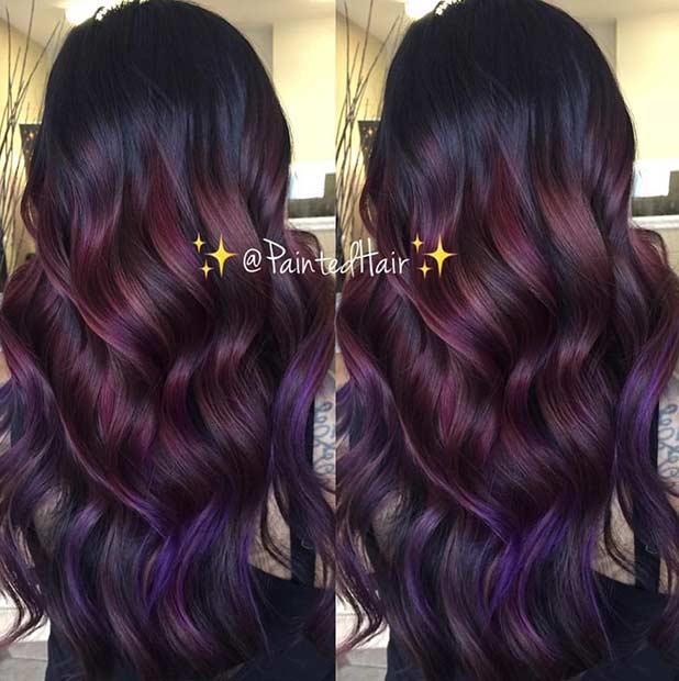 Purpurrotes Haar aus Burgund &quot;width =&quot; 618 &quot;height =&quot; 620 &quot;/&gt;<p class=