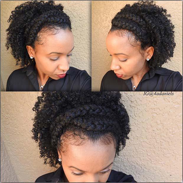Crown Braid for Natural Hair