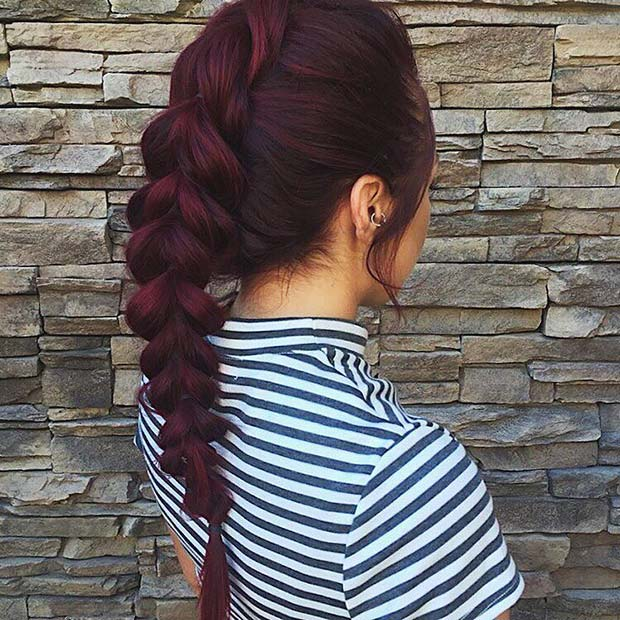 Dark Burgundy Hair Idea