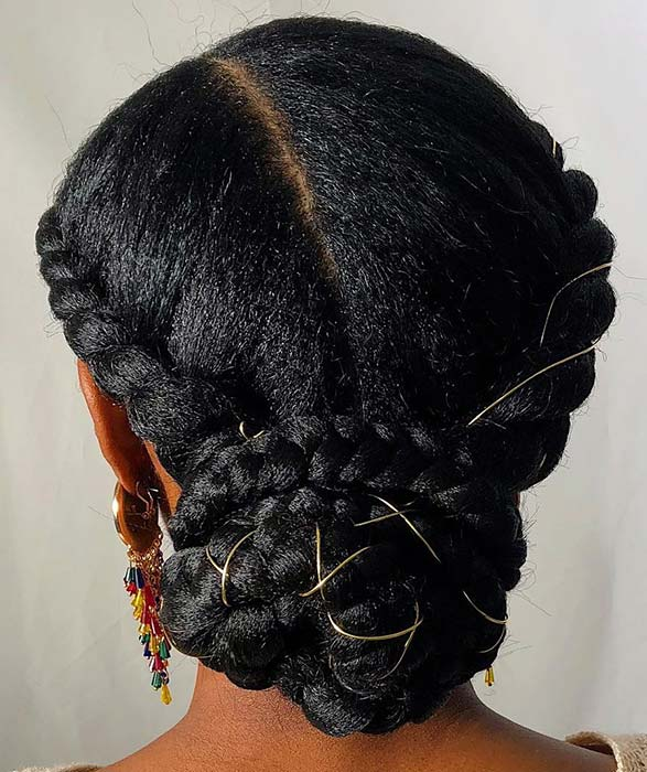 Pretty Braided Hairstyle for Natural Hair