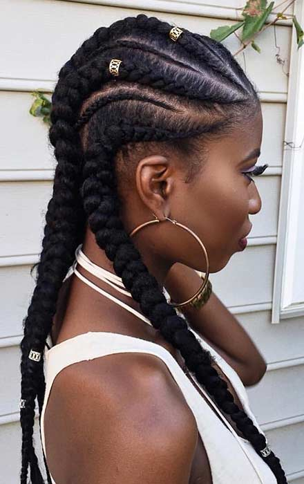 Feed in Cornrows with Weave